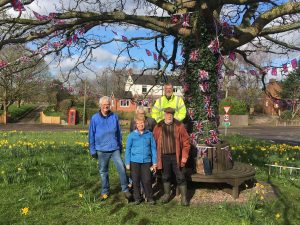 Parish Councillors beneath the tree