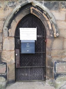 St Mary's Church vestry door