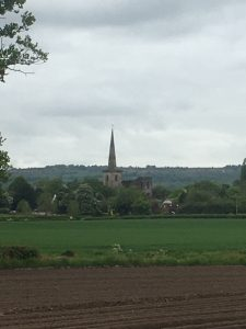 St Mary's Church in the distance