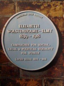 Image of blue plaque to Elizabeth Wolstenholme Elmy blue plaque