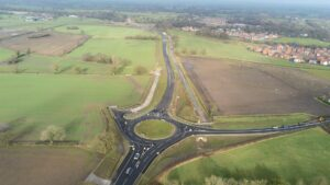 Aerial view of Conlgeton Link Road