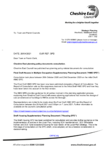 Image of planning consultation letter, linking to PDF