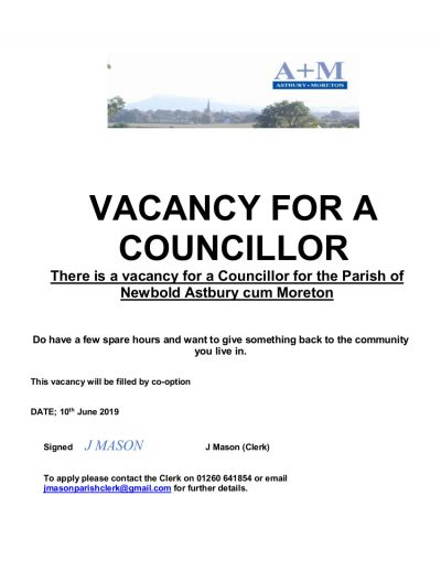 Vacancy for a Councillor