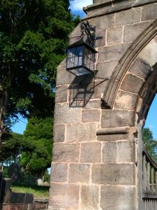 Photo: lychgate lamp back in place