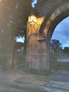 Photo: lychgate lamp at night