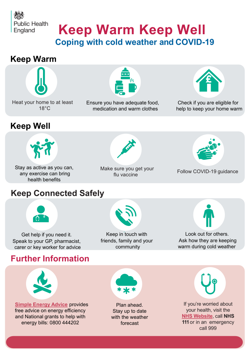 Image of Public Health England leaflet, linking to PDF.