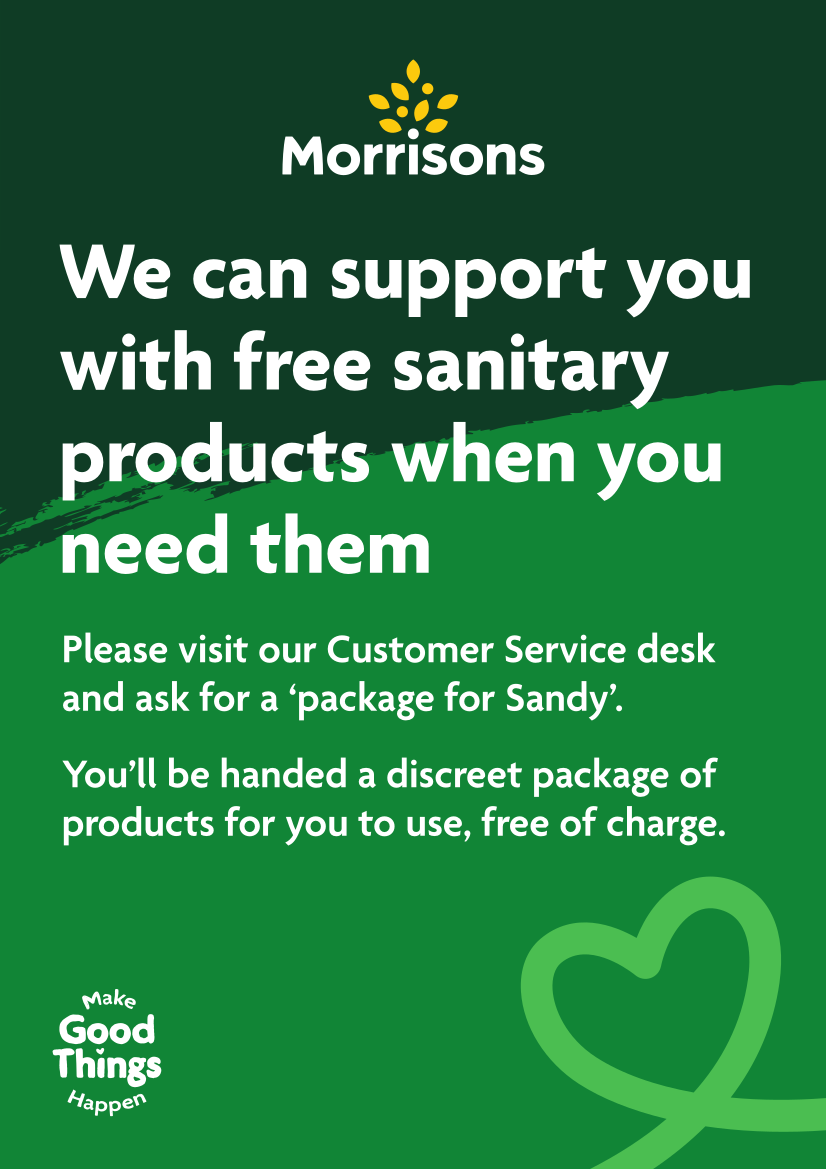 Image of Morrisons 'Package for Sandy' poster, linking to PDF