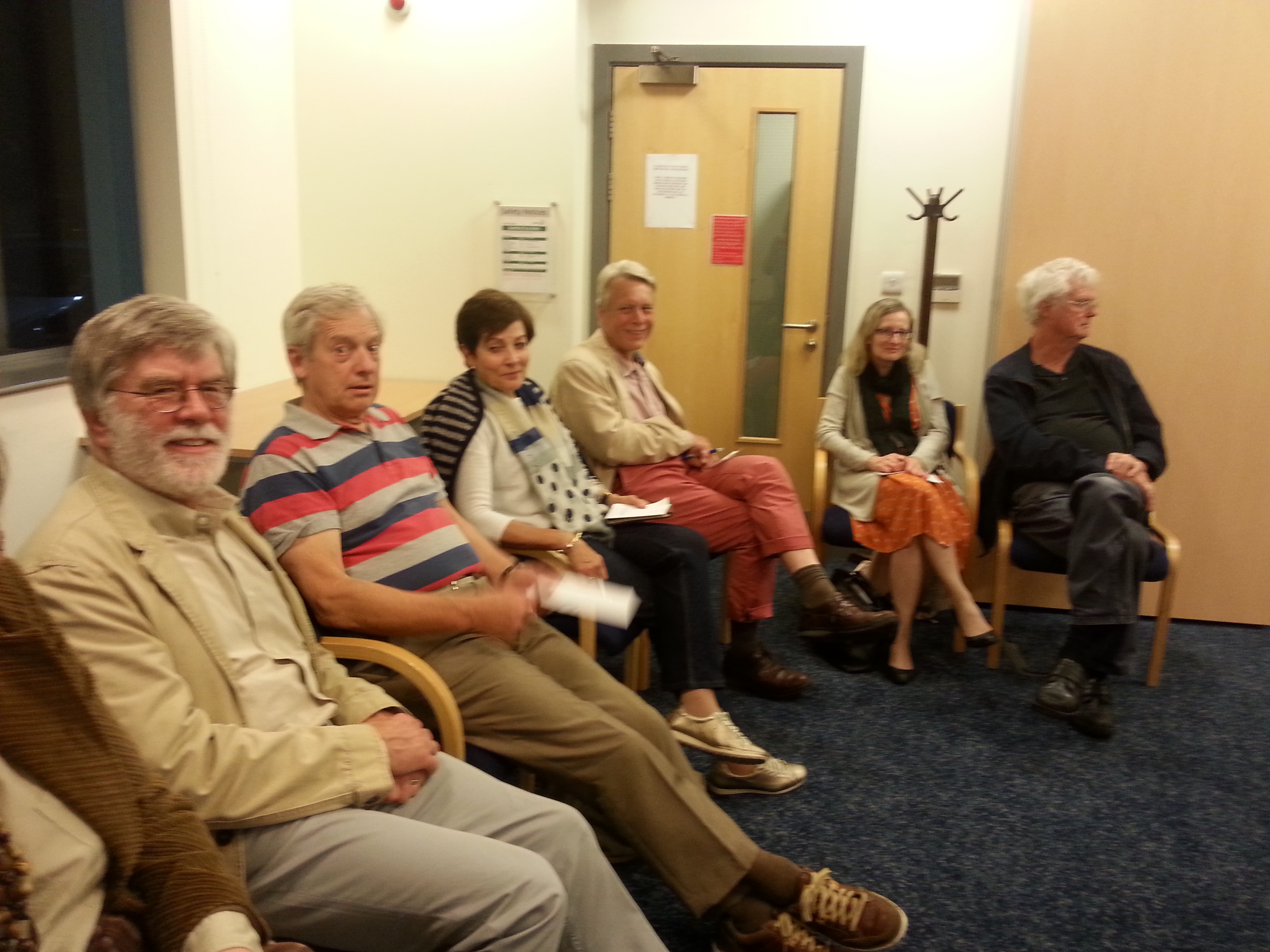The Neighbourhood Plan team waiting for the count