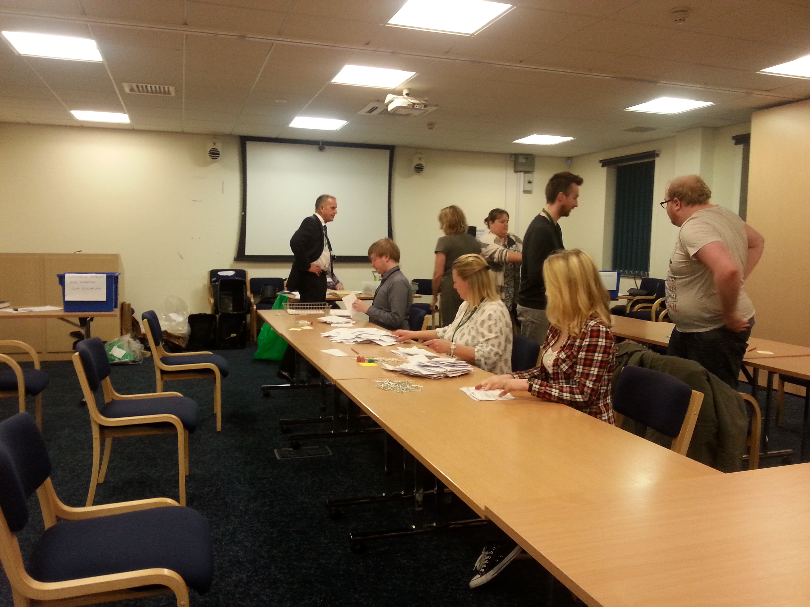 Counting the postal votes